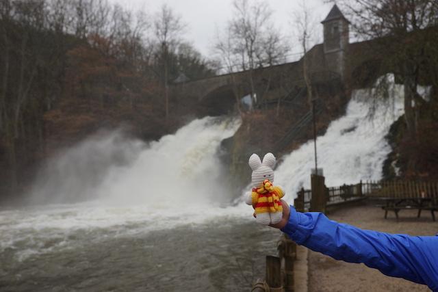 Ko Nientje bij de waterval van Coo (België)