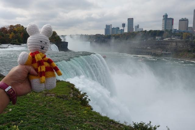 Ko Nientje bij Niagara Falls (USA)