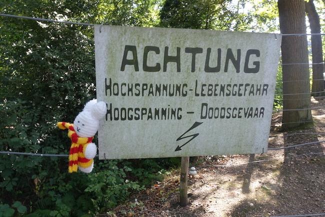 Ko Nientje bij de grens van WO1, Achelse Kluis, België