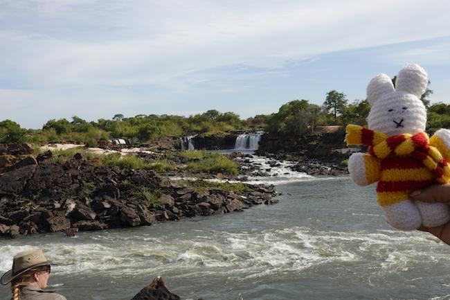 Ko Nientje bij Sioma Falls, Zambia