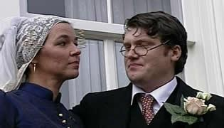 De huwelijksvoltrekking aan de Voorstraat