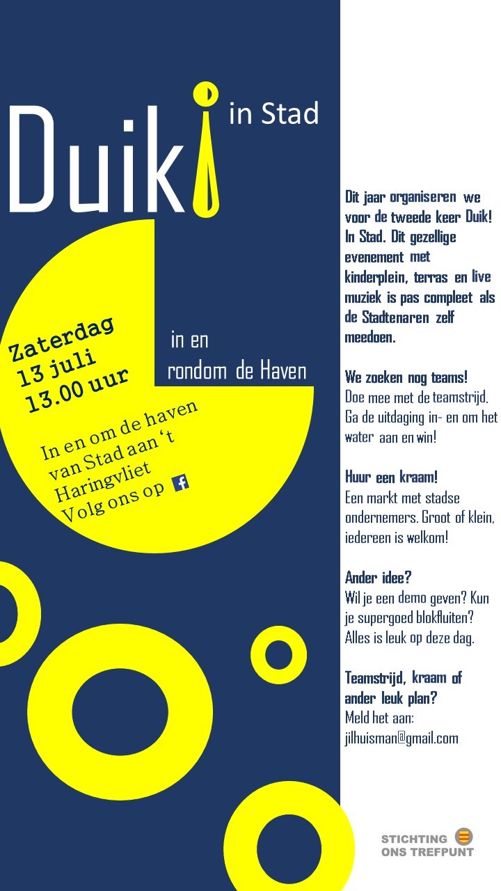 Duik in Stad. Flyer