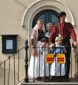 De familie Koppenaal was op de Stadse Dag ook verkleed